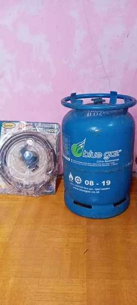 DI JUAL  tabung blue gas kosong ukuran 5,5 KG sm selang regulator