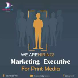 Marketing Executive for print media and social media