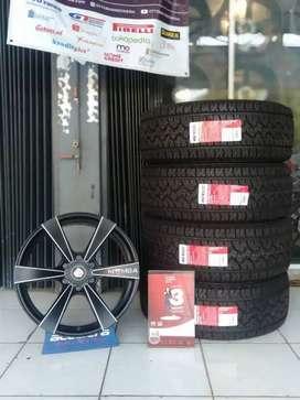 Promo Paket Ban GT Radial + Velg Mamba R20 murah untuk Pajero .