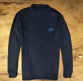 Sweater slazenger size L warna navi
