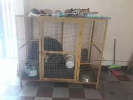 Good condition dog cage available