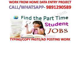 WORK FROM HOME Weekly Part time home base work DATA ENTRY typing job