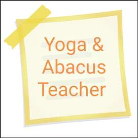 Part time Abacus and Yoga Teacher