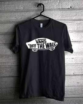Kaos Distro Vans Off The Wall Cotton Combat 30S Custom