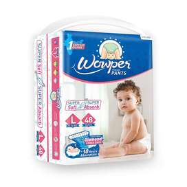 Wowper Fresh Pant Diaper (Large, L) Pack of 48 Diapers