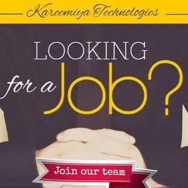 we are looking for fresh and experience individuals.