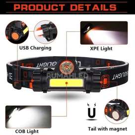 Senter Kepala Mitsuyama MS-1922 LED COB Rechargeable / headlamp sorot