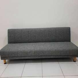 Heim Studio Saki Sofa Bed Abu-Abu Muda