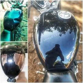 Bike painting and polishing