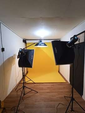 6-roller motorized electric background support system
