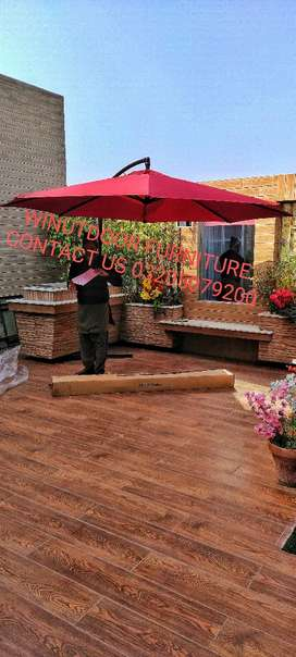 Umbralla and outdoor furniture