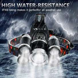 HS Senter Kepala / Headlamp Cree XML T6+4 XPE 40000 Lm Waterproof IPX6
