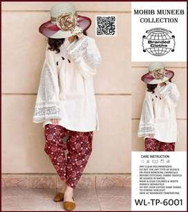 2PC Unstiched Embroidered Linen Suit WL-TP-6001
