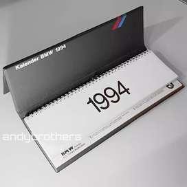 Official Original Merchandise Buku Kalender BMW Tahun 1994 Rare item