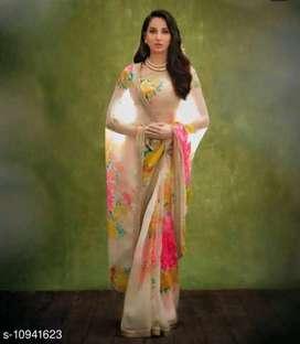 Rudi fashion colourfull organza silk designer saree