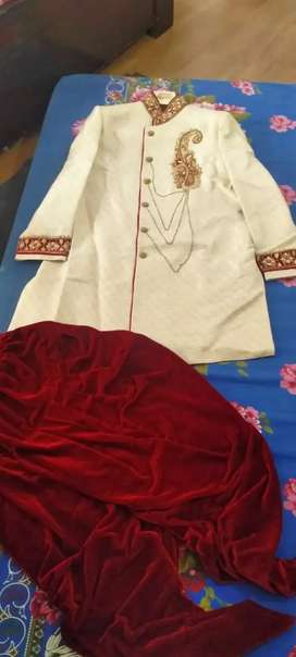 Sherwani with velvet dhotipajama n heavy duptta 2year old size XL size
