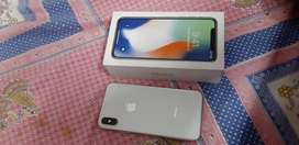 Iphone x 64 gb silver without warrenty