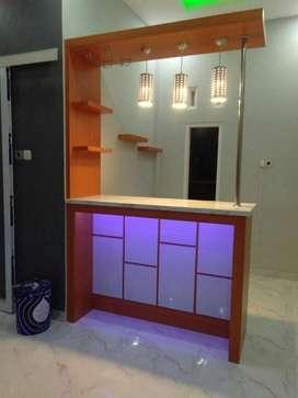 DOV Kitchenset minibar partisi ruangan dipan tempat tidur
