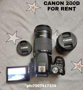 Canon 200d rent