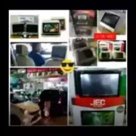 Pasti serasi deh dvd 2din led+2pc monitor headrest 7inc harga promo