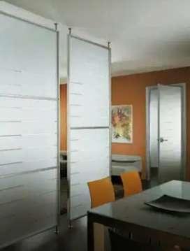 Cantiknyaruangan dapurmu dgstiker Sanblas&kaca film lapisan kaca sekat