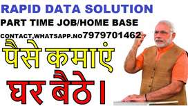 Simple DATA ENTRY work Part time HOME BASE job EARN