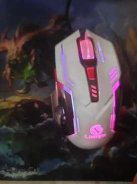 Gaming mouse with gaming pad