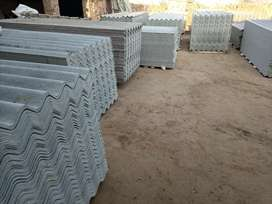 Roofing sheets for dairy farm shed.