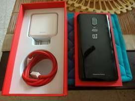 One Plus 6 with box and Dash Charger for 17999