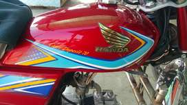 Honda cd 70 red colour available for sell