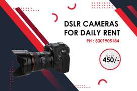 DSLR Cameras Daily Rent