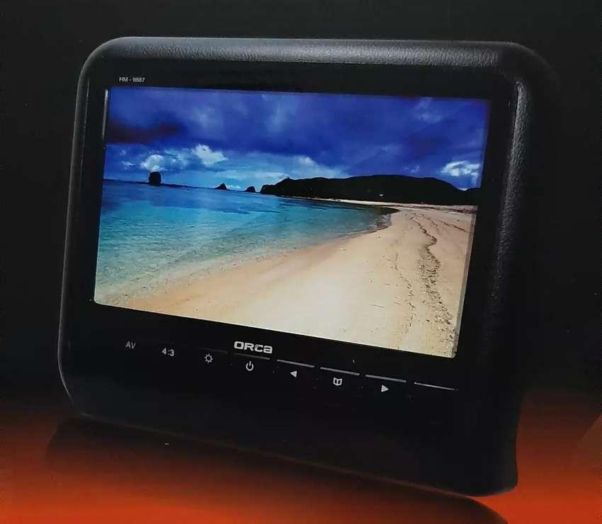 "Headrest monitor 9"" HD LED clip on non DVD layar tv kursi mobil 0"