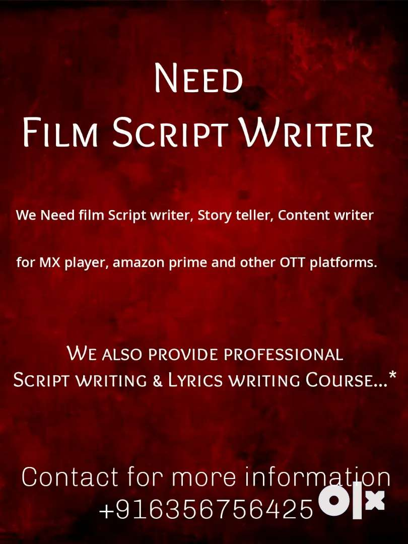 Film script writer & Lyrics writer