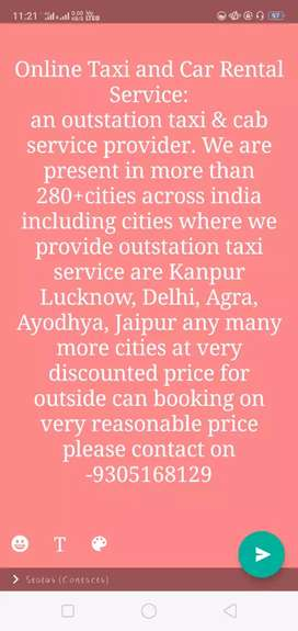 For outstation booking