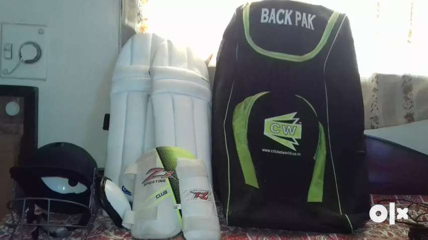 Unuse Cricket kit for age till 15 years old without bat with back pack 0