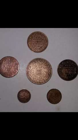 Antique Copper Coin...6 Coins