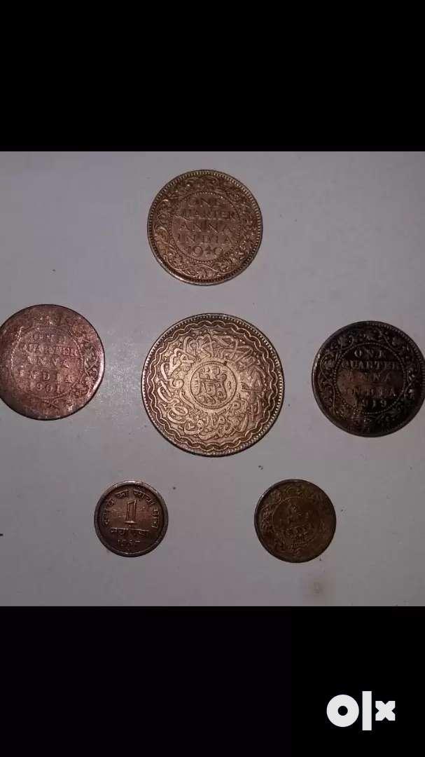 Antique Copper Coin...6 Coins 0