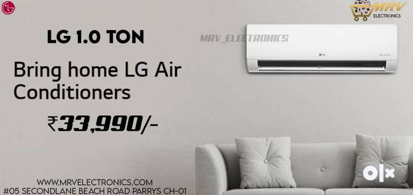 :LG 1 Ton 4 Star Inverter Split AC WITH WARRANTY AVAILBLE
