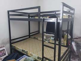 Iron Bed is For Sale with 2 Matress