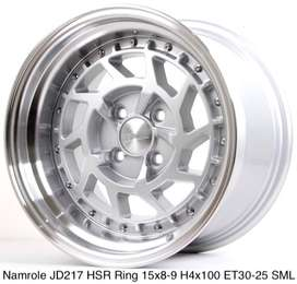 all new NAMROLE JD217 HSR R15X8/9 H4x100 ET30/25 SML