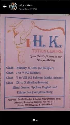 Tuition teacher for Nursury - class 4