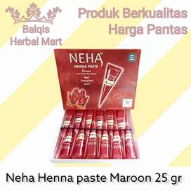 Henna Tangan Neha Henna Paste Maroon 25 Gram 25 Gr 25 g