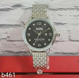 Jam tangan coach hitam silver tgl aktif women only