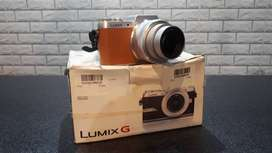 Mirrorless Lumix GF8 Fullset No Minus + Lensa 12-32mm