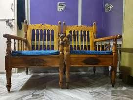 Two Maharaja chairs