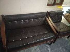 Wooden SOFA SET in good condition on Low price available