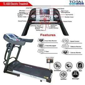 Alat Fitness Treadmill Elektrik TL-650 motor 2hp