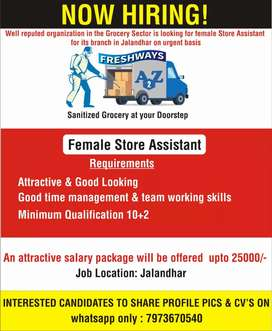 Telecallers and female Store assistant, no targets