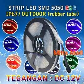 Flexible LED Strip RGB SMD 5050 DC12V IP67/IP68 + Rubber Tube