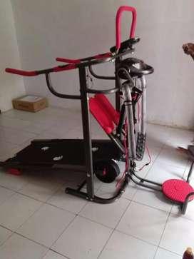 Treadmill manual 6 fungsi besi anti gores